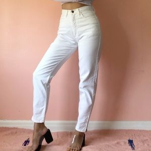 Vintage Guess White Zip Jeans